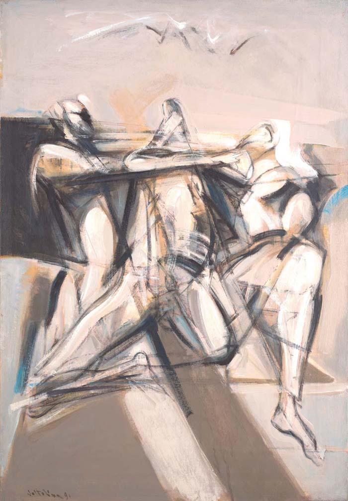 "Trio 17""x25"" oil on canvas"
