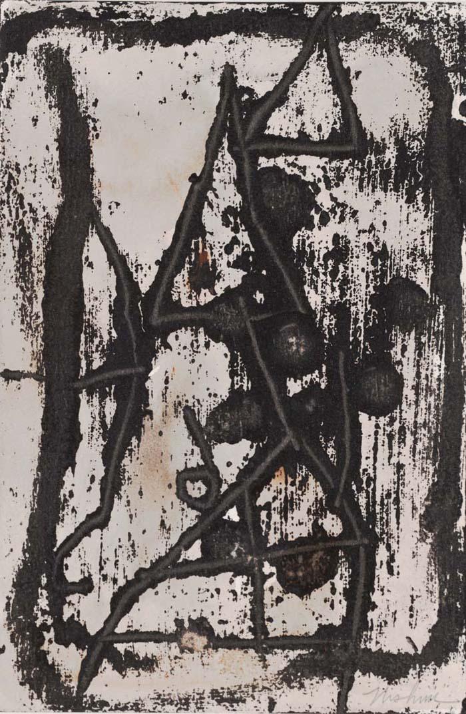 "Mur series (beige)  10""x13"" mixed media on paper"