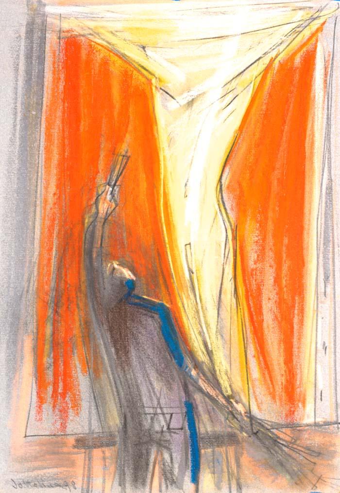 Vision  pastel on paper