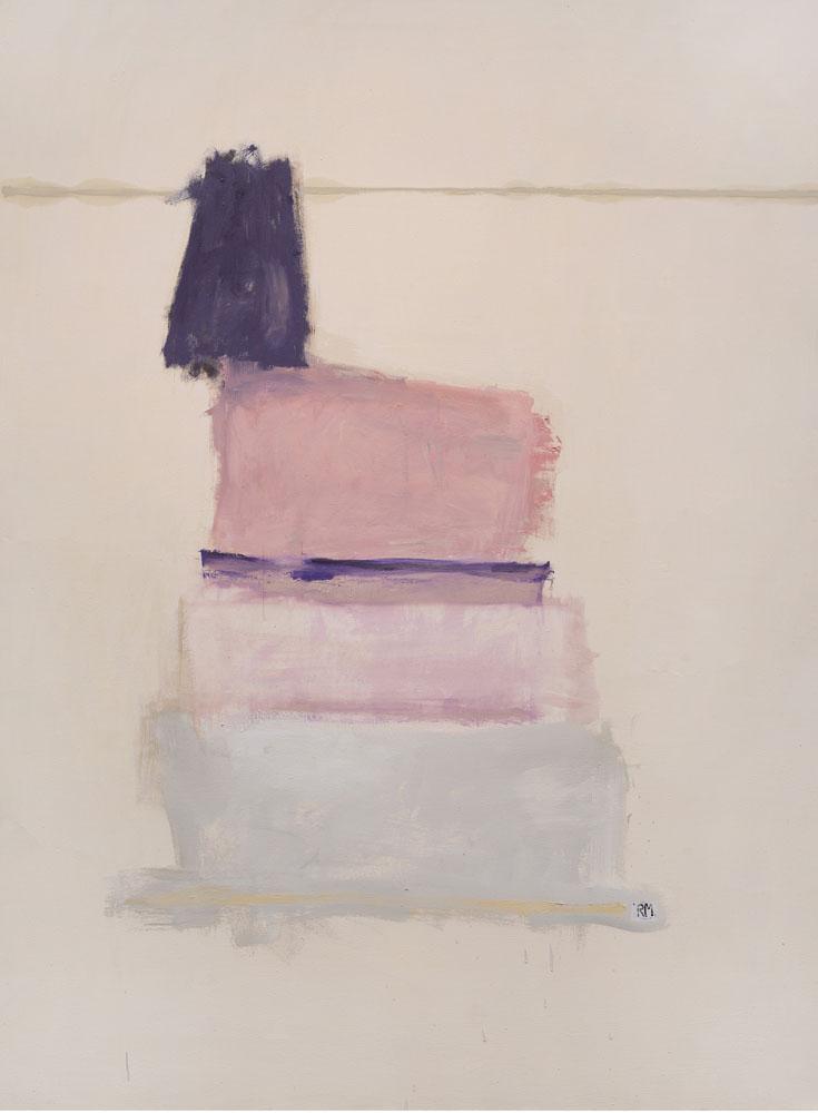 """Serie de los rosas #5 65""""x47"""" mixed media on canvas"""