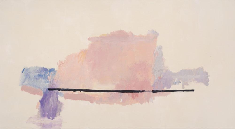 "Serie e los rosas #2 43""x78"" mixed media on canvas"
