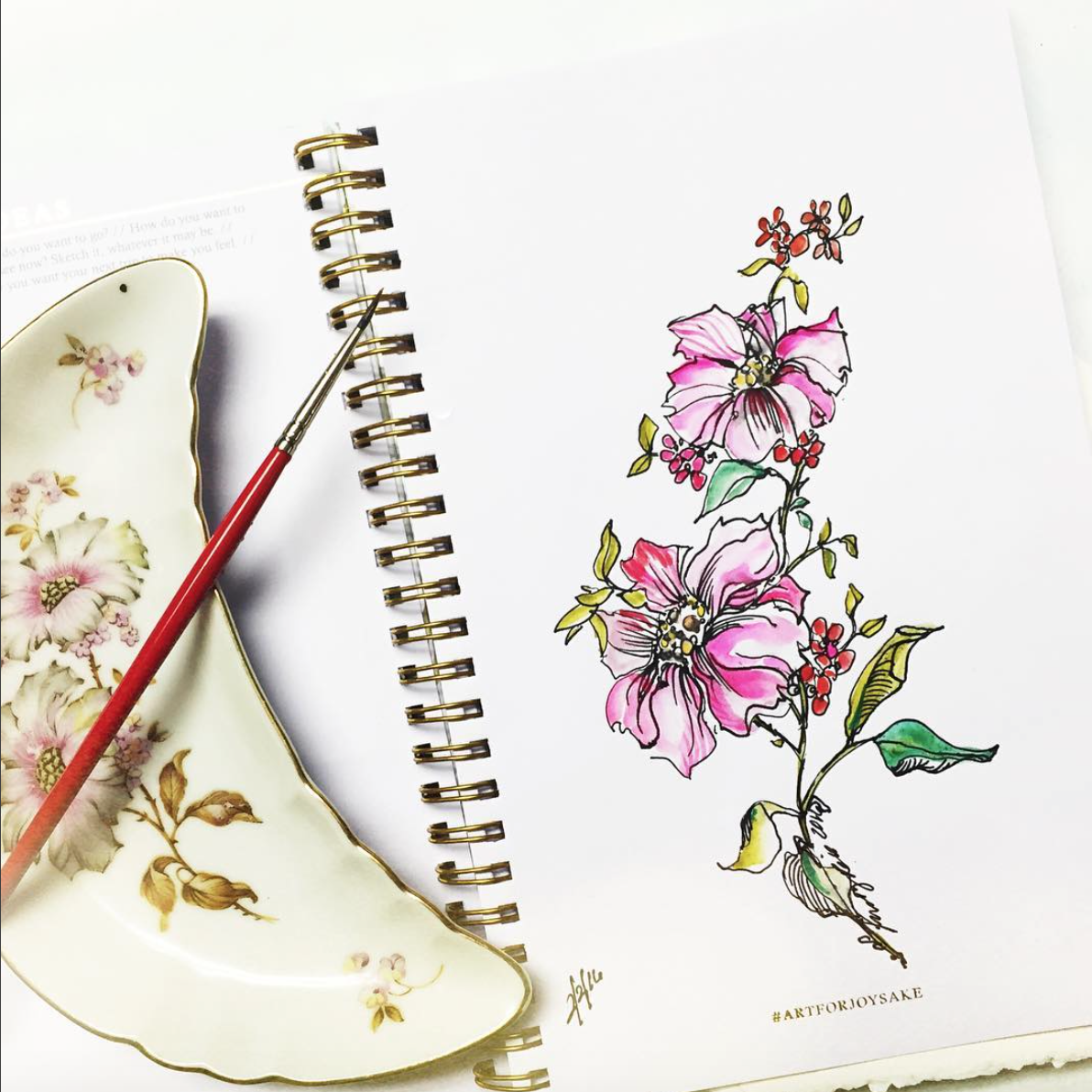 Kristy draws inspiration from antique china and floral patterns