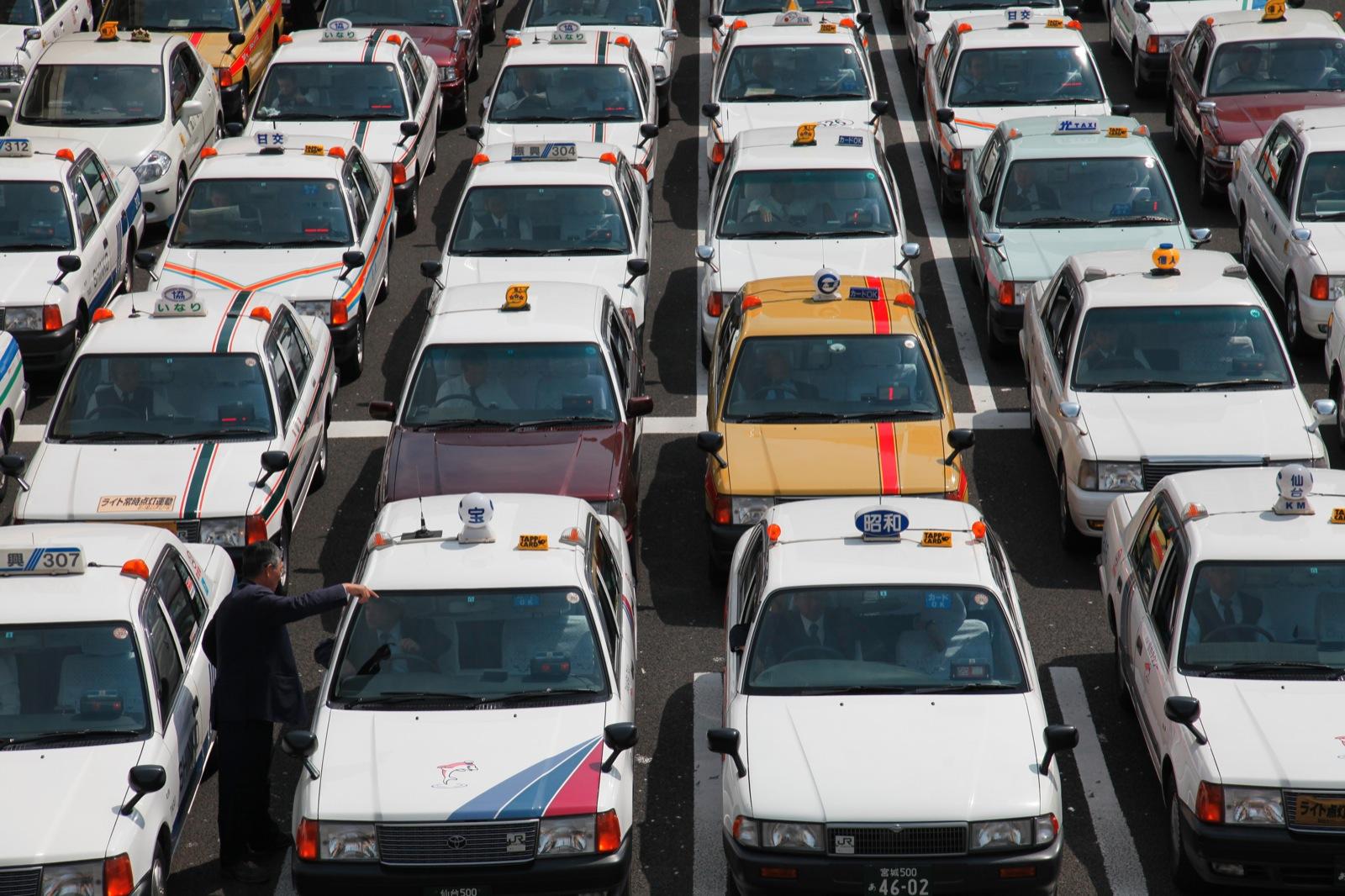 The Taxi Man (Sendai Station, Sendai)