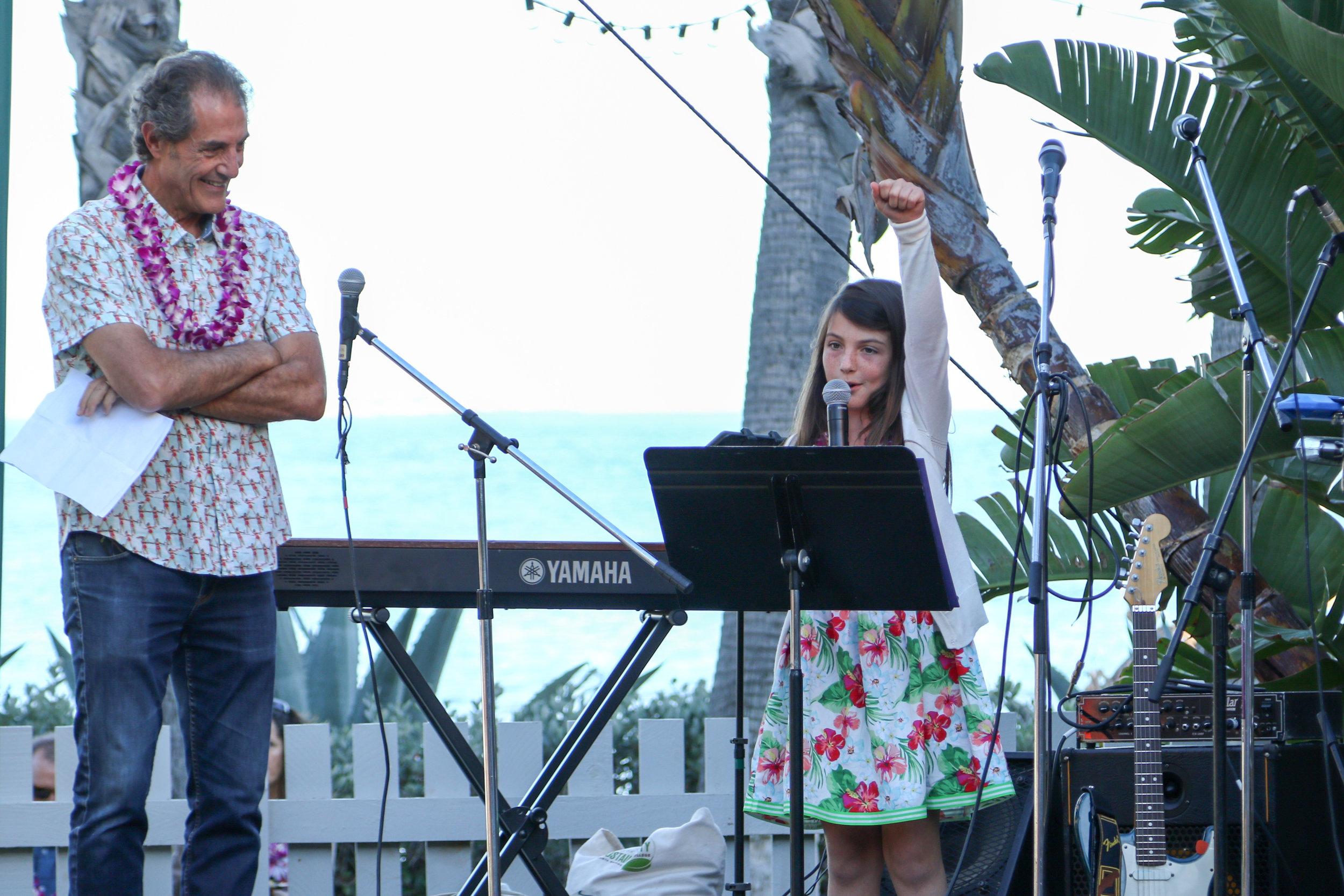 Maxine Nocker shared an inspirational speech her participation in the Girls Inc Surf Club