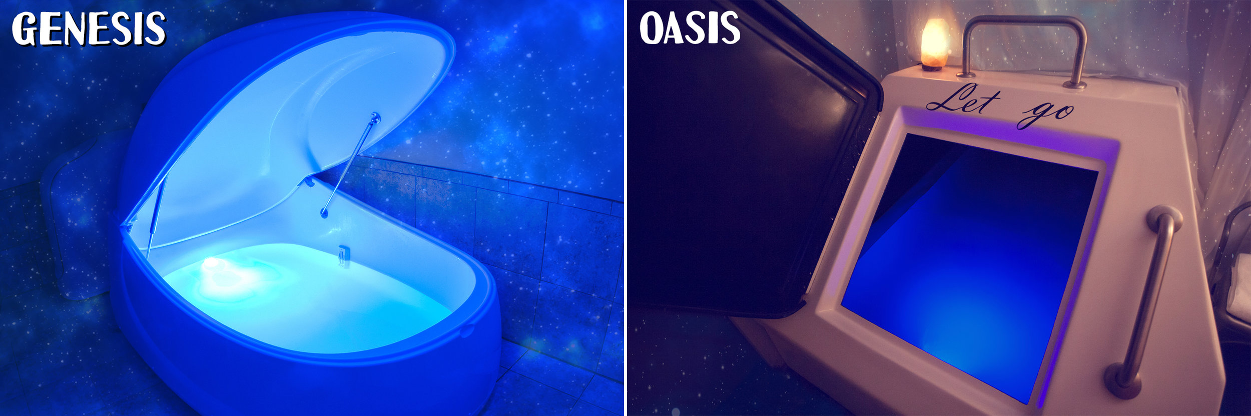 Our Genesis and Oasis float tanks