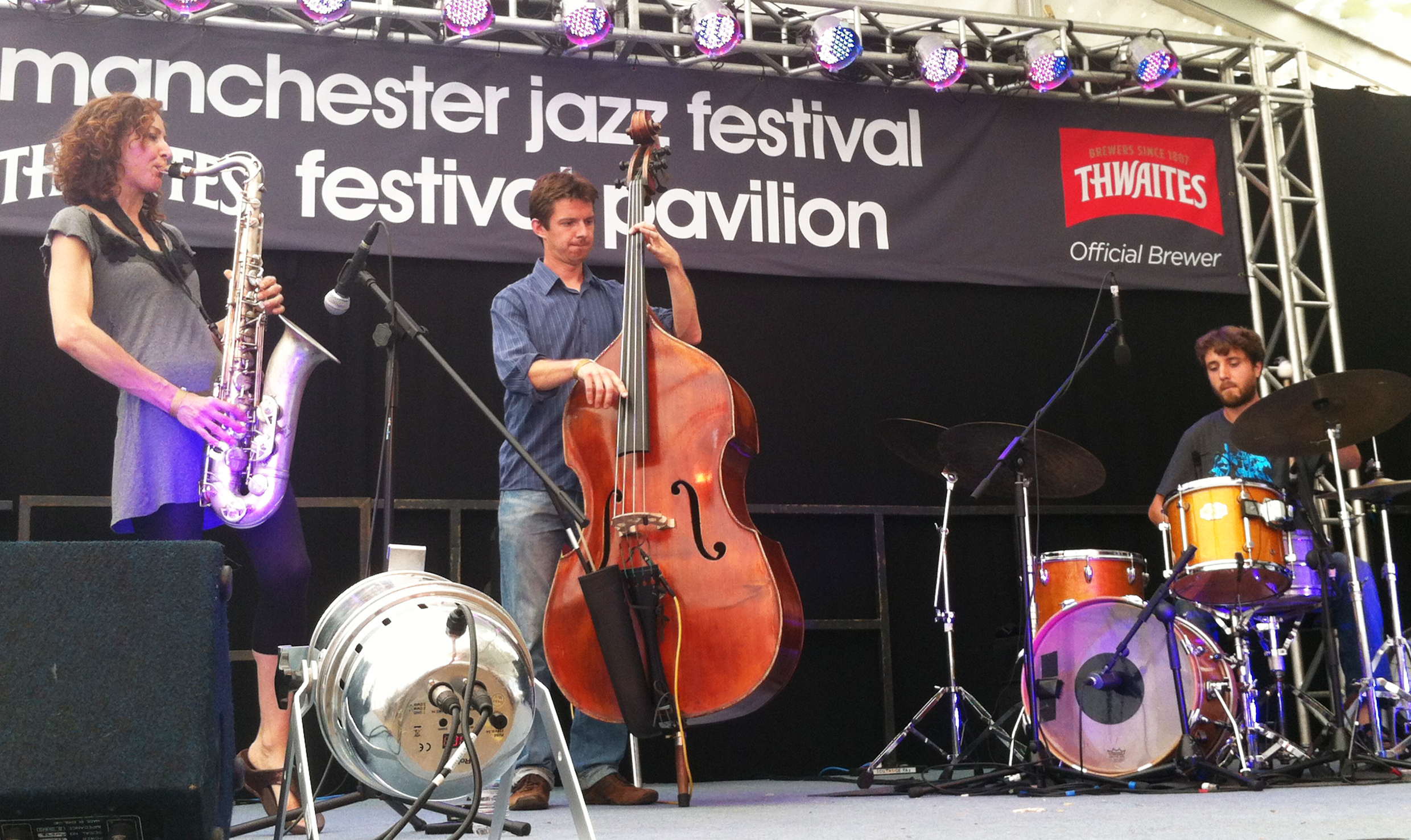 At Manchester Jazz Festival (courtesy of Adrian Pallant)