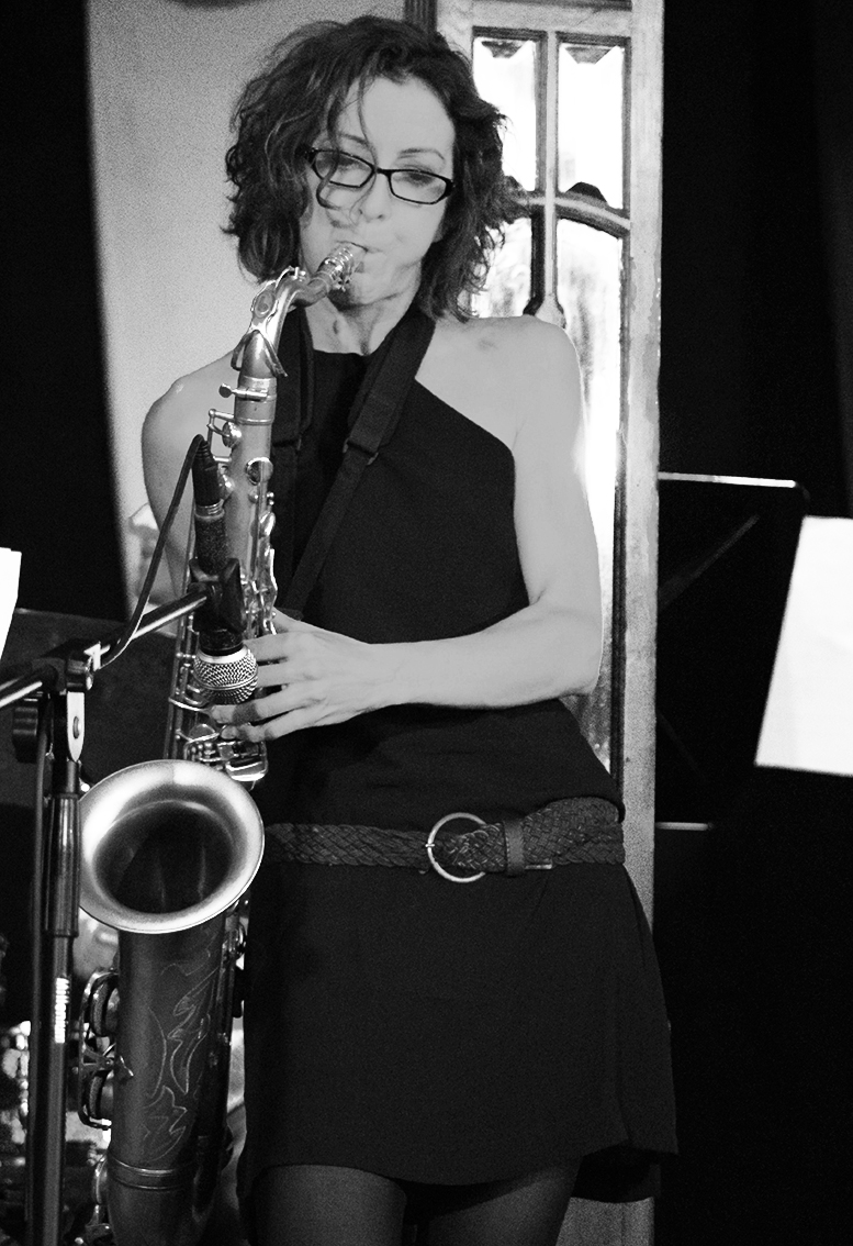 At Manchester Jazz Festival. Photo courtesy of Adrian Pallant
