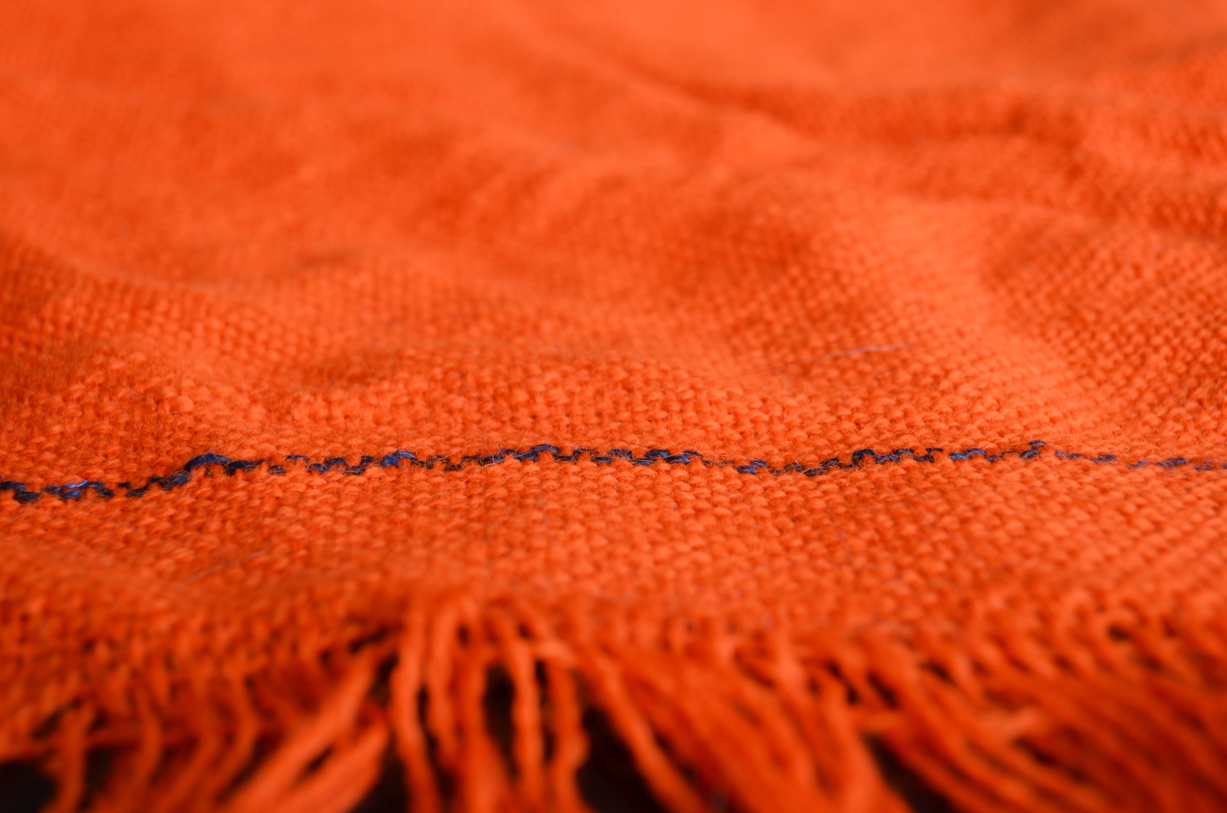 orange yarn / weaving / warp or weft / warporweft.com