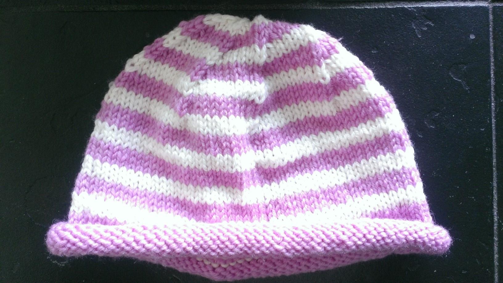 baby hat pattern / knit / warporweft.com