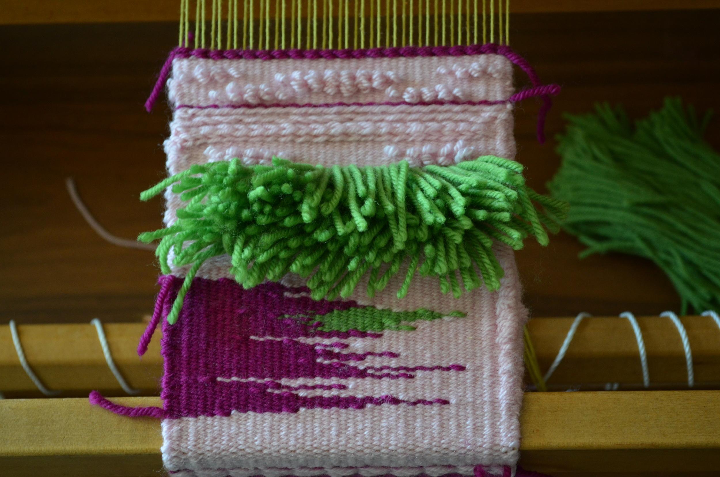 weaving fringe tapestry / warporweft.com