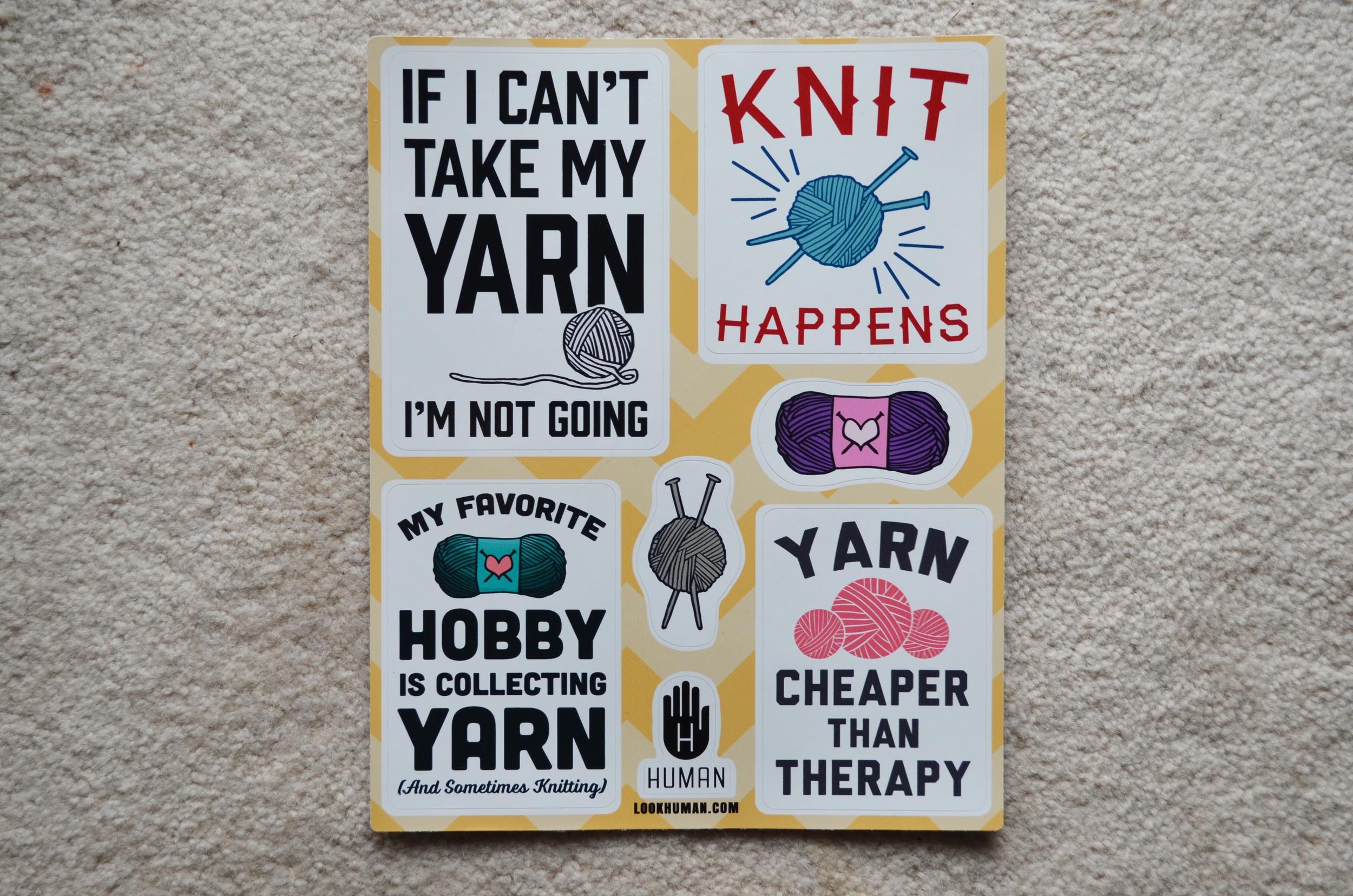 knitting stickers / warporweft.com