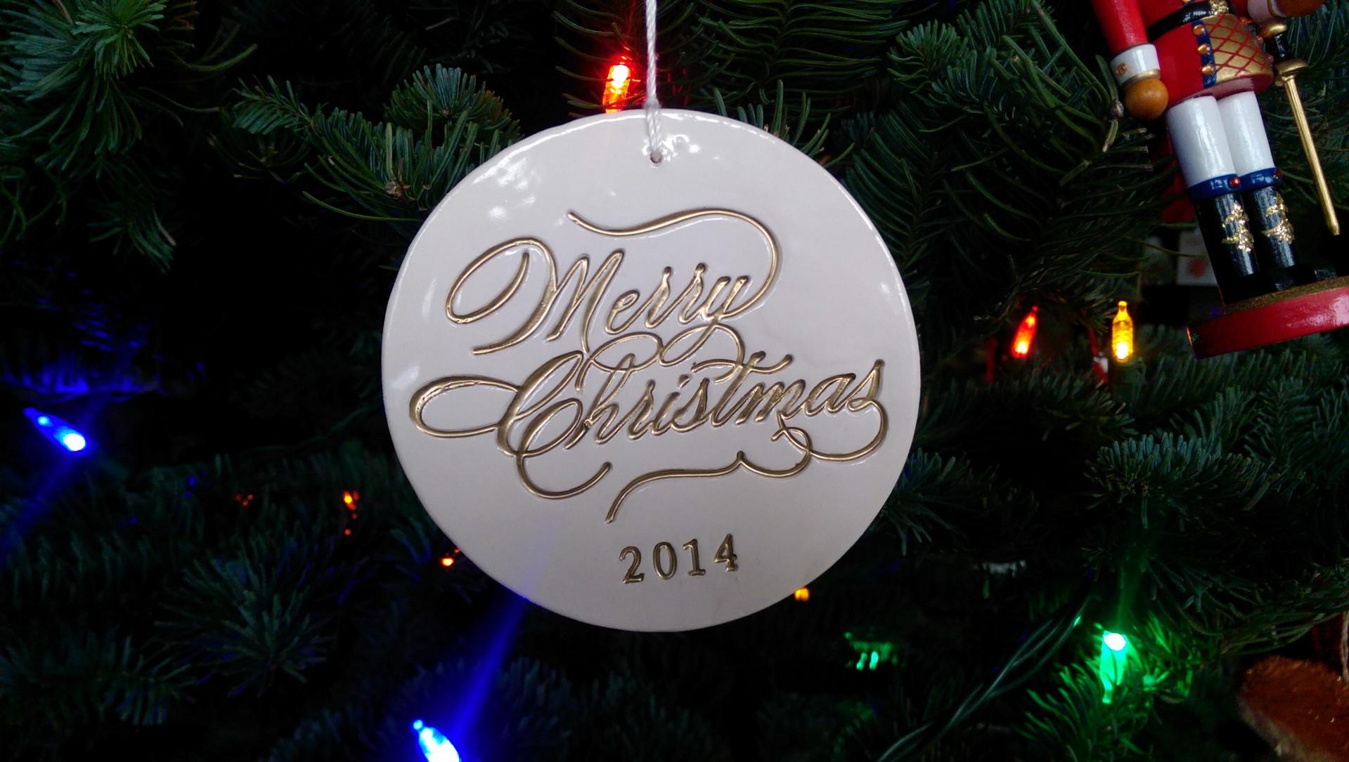 Merry Christmas ornament / warporweft.com