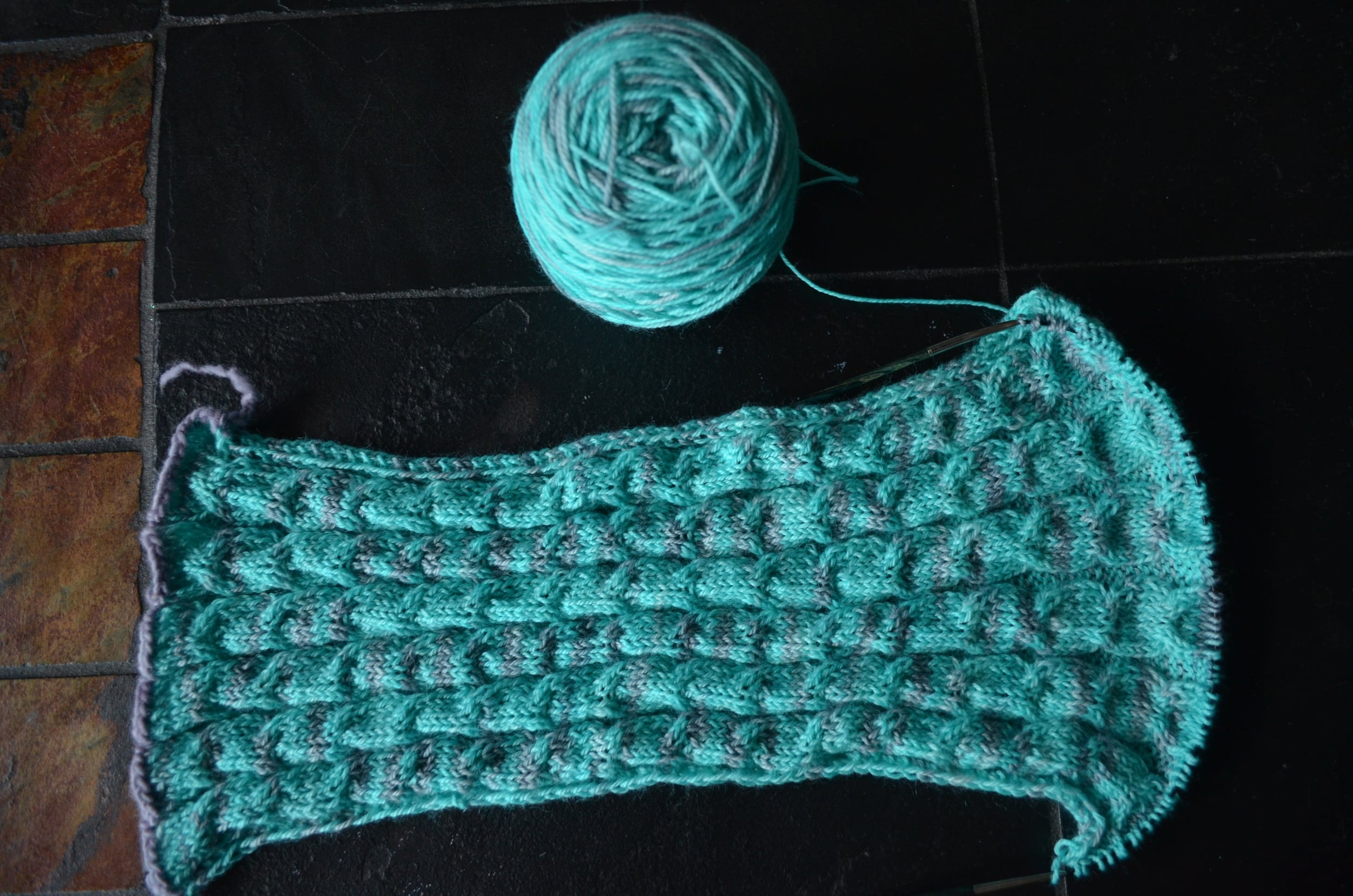 Teal Knitting / warporweft.com
