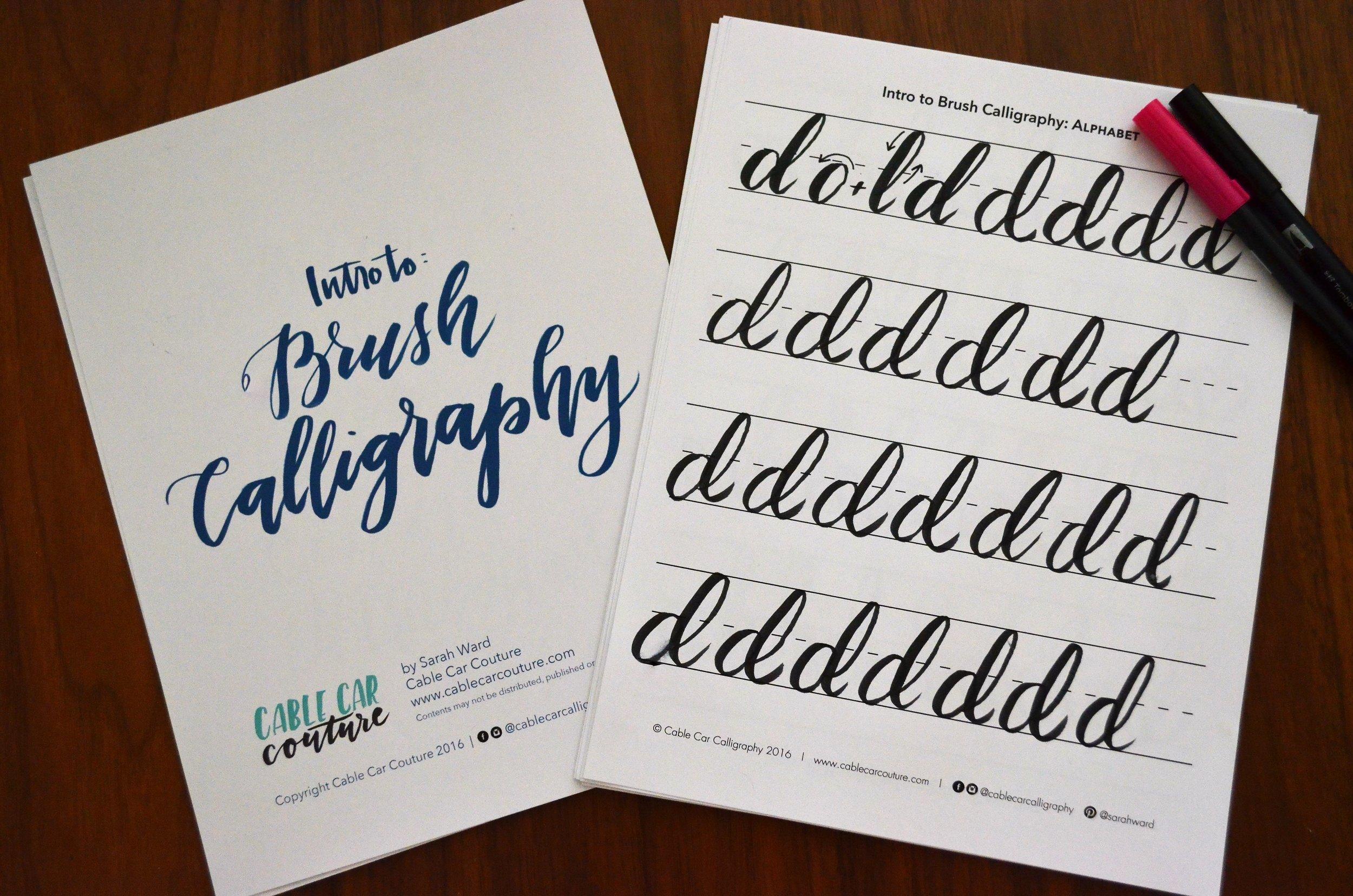 Modern Brush Calligraphy / warporweft.com