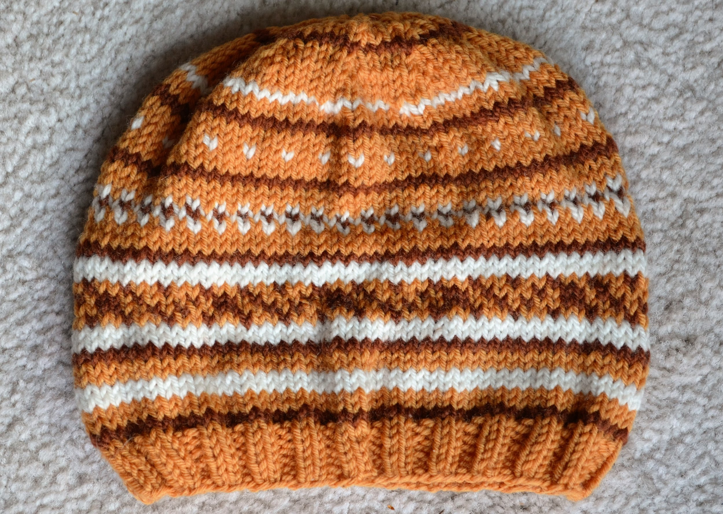 Knit baby hat by Warp or Weft