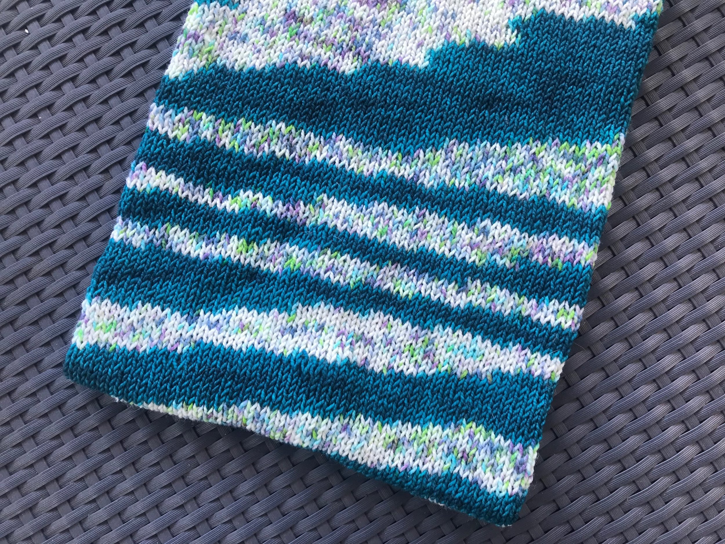Fiber Seed Sprout Sock Cowl