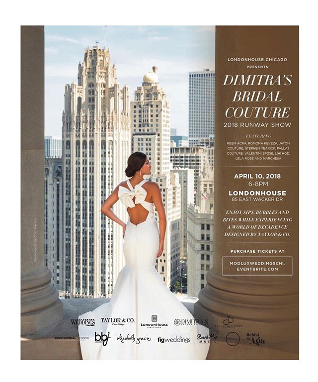 Final touches for @dimitrasbridalcouture  annual 2018  runway event with @modluxweddingschi tonight at the @lhchicago ,  @bridalbyaga  @taylor_and_company_events @mdurpettievents @collinpierson @theweddingdresser @figweddings @leapweddings @bkobeatmix, @mpmanagementchicago & Davis Imperial Cleaners - - -  Thank you Amazing hair team @kristinlmuller @pedrohernandez01 @amy_geister @alex_tatar