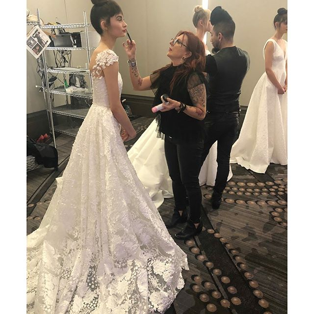 #dimitrasbridal show 2018 - - It takes a lot of work to create a look. Exploring your creativity , collaborating and exchanging thoughts with other artist , gathering a team  that have very similar traits , work ethic and a strong  connection .  Once all those elements are align  magic just happens !! Such an honor  to create with you  @makeupbyagak. - -  Makeup lead • @bridalbyaga  Makeup assistants • @tillylooks • @__makeupbyyessenia__ • @juliasimonemakeup • @latoyahowardbeauty  Hair lead • @hairbyjuanjose  Hair assistants • @kristinlmuller • @pedrohernandez01 • @alex_tatar • @amy_geister  Thank you @hairdreamsofficial for extra help and @reneehaircolorist from @glosschicago for customizing all the fringe colors .  Photo • @collinpierson  @mdurpettievents  Dresses • @dimitrasbridalcouture @theweddingdresser  Venue • @lhchicago  @modluxweddingschi
