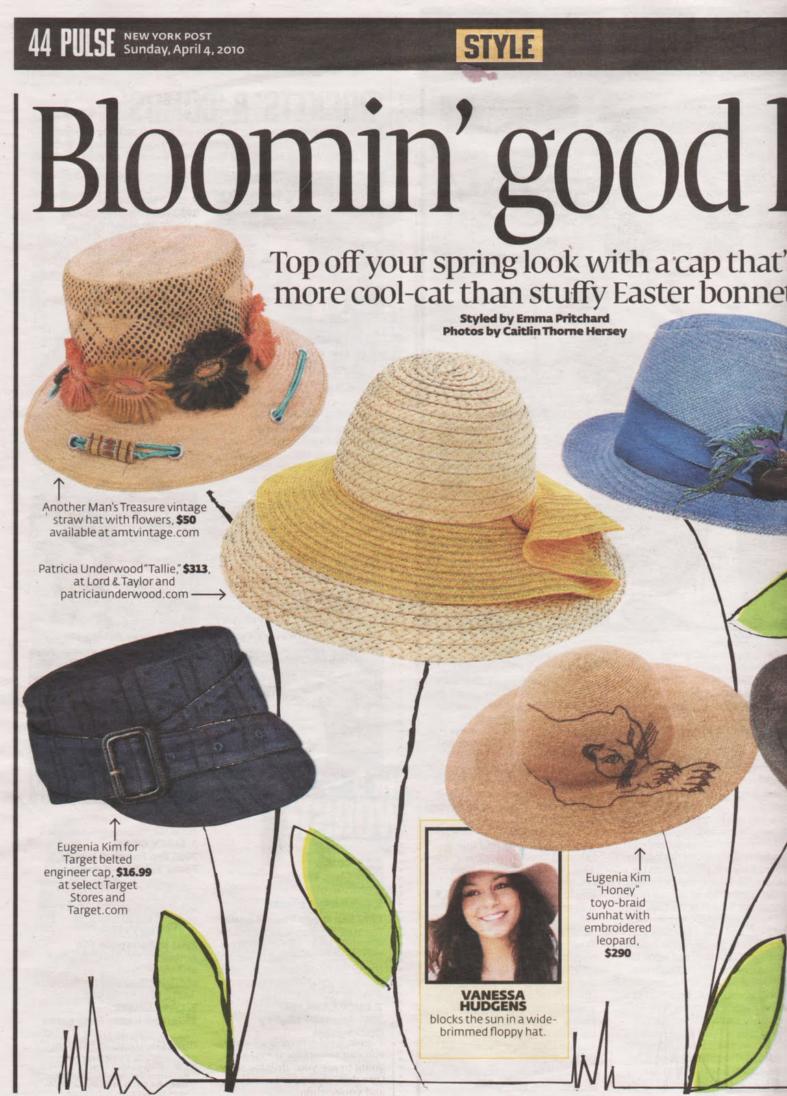 New York Post Straw Hat - April 2010