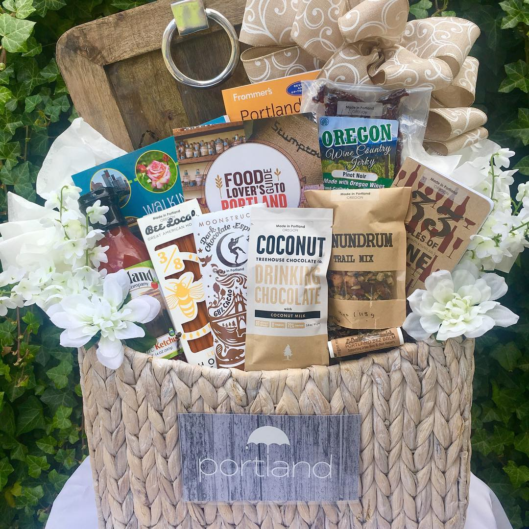 Oregon Gift Baskets - All Oregon made foods in a gift basket custom designed & tailored to them