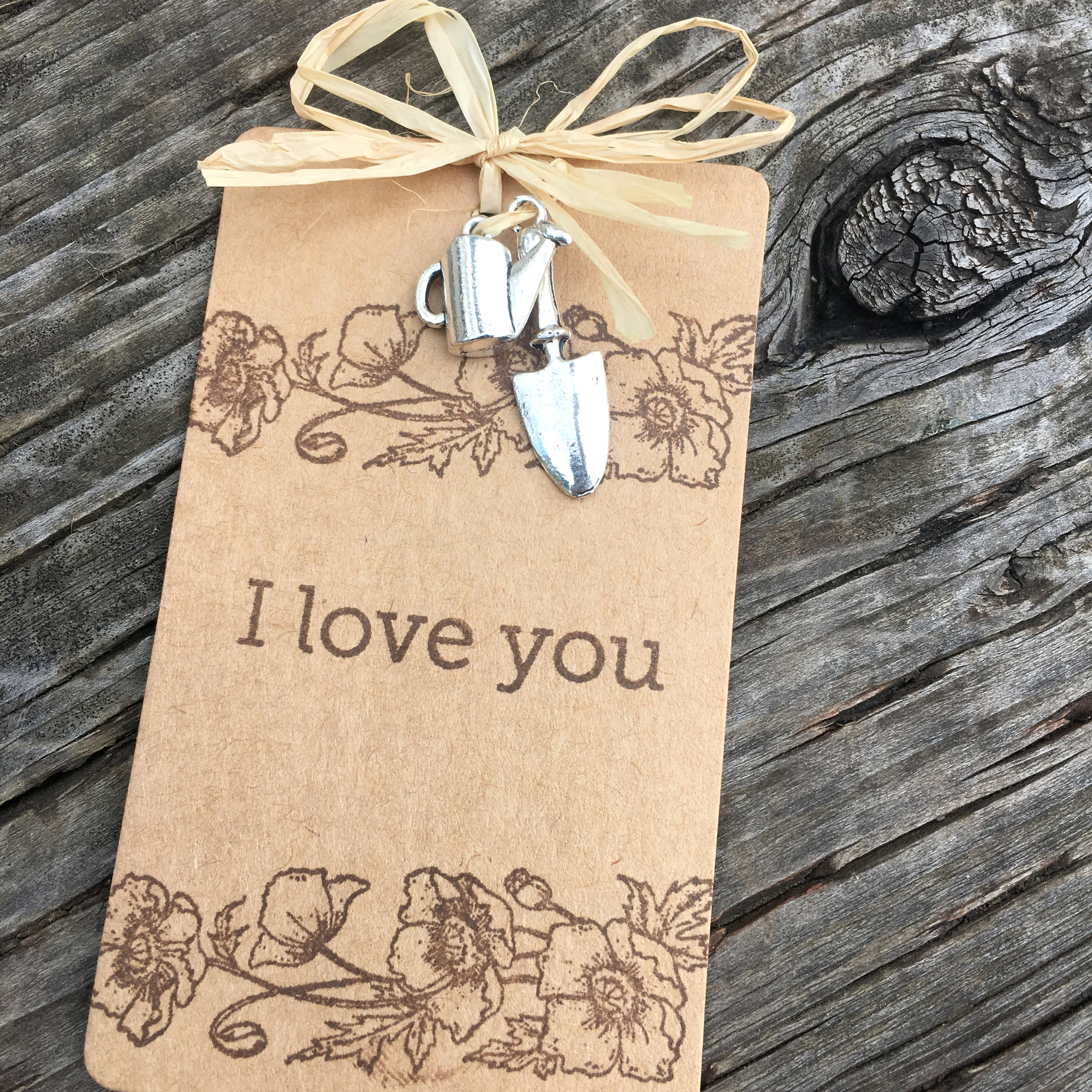 I love you gift tag