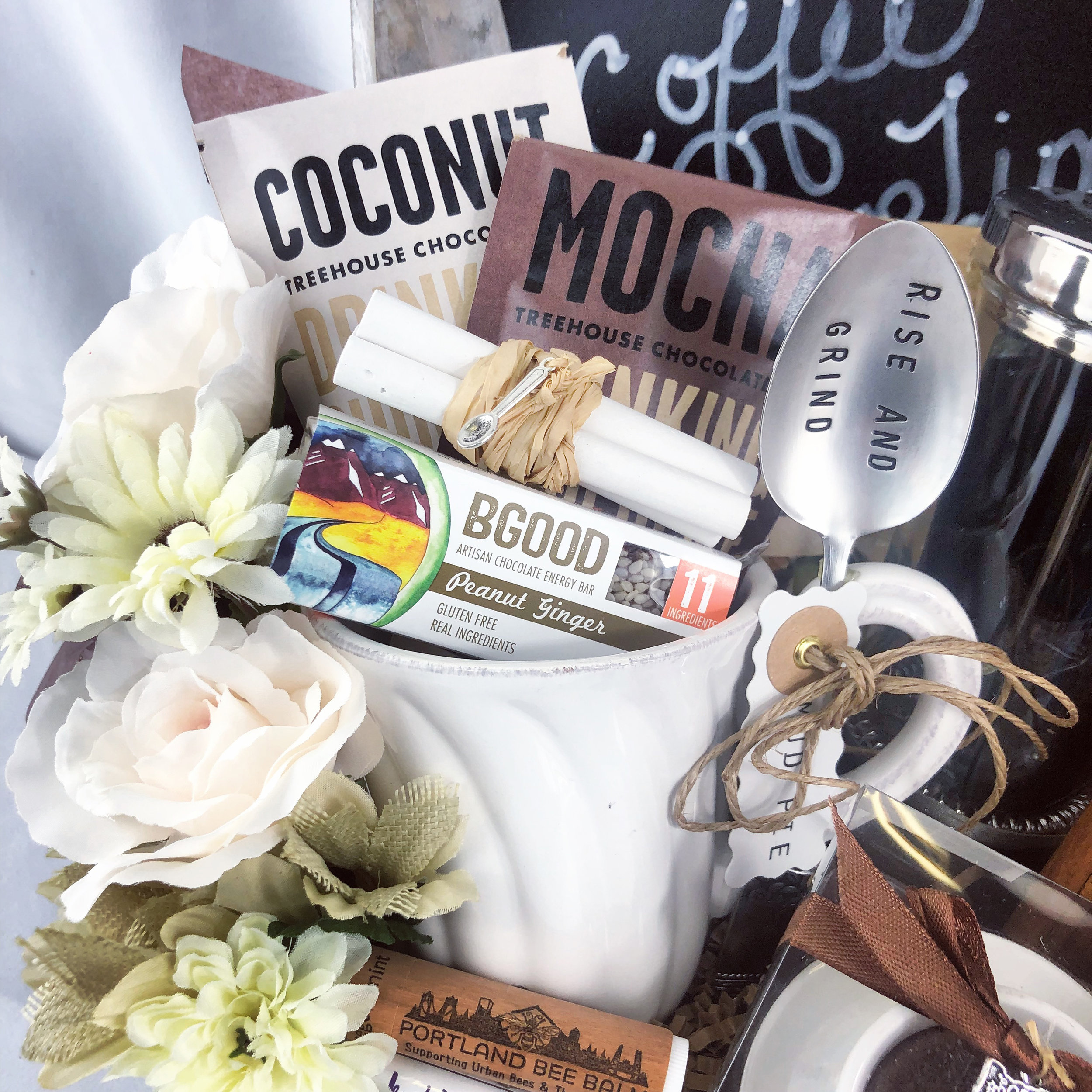 Coffee Themed Gift Basket