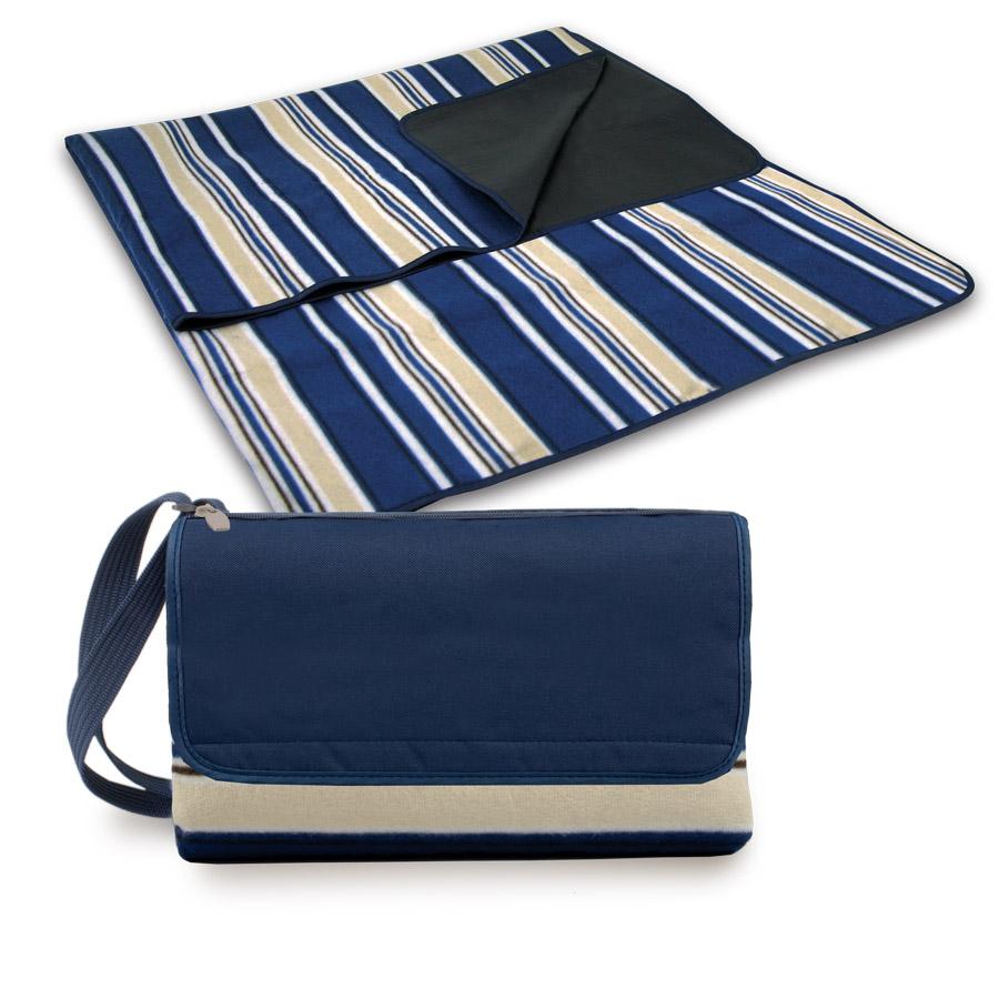 navy blanket tote picnic
