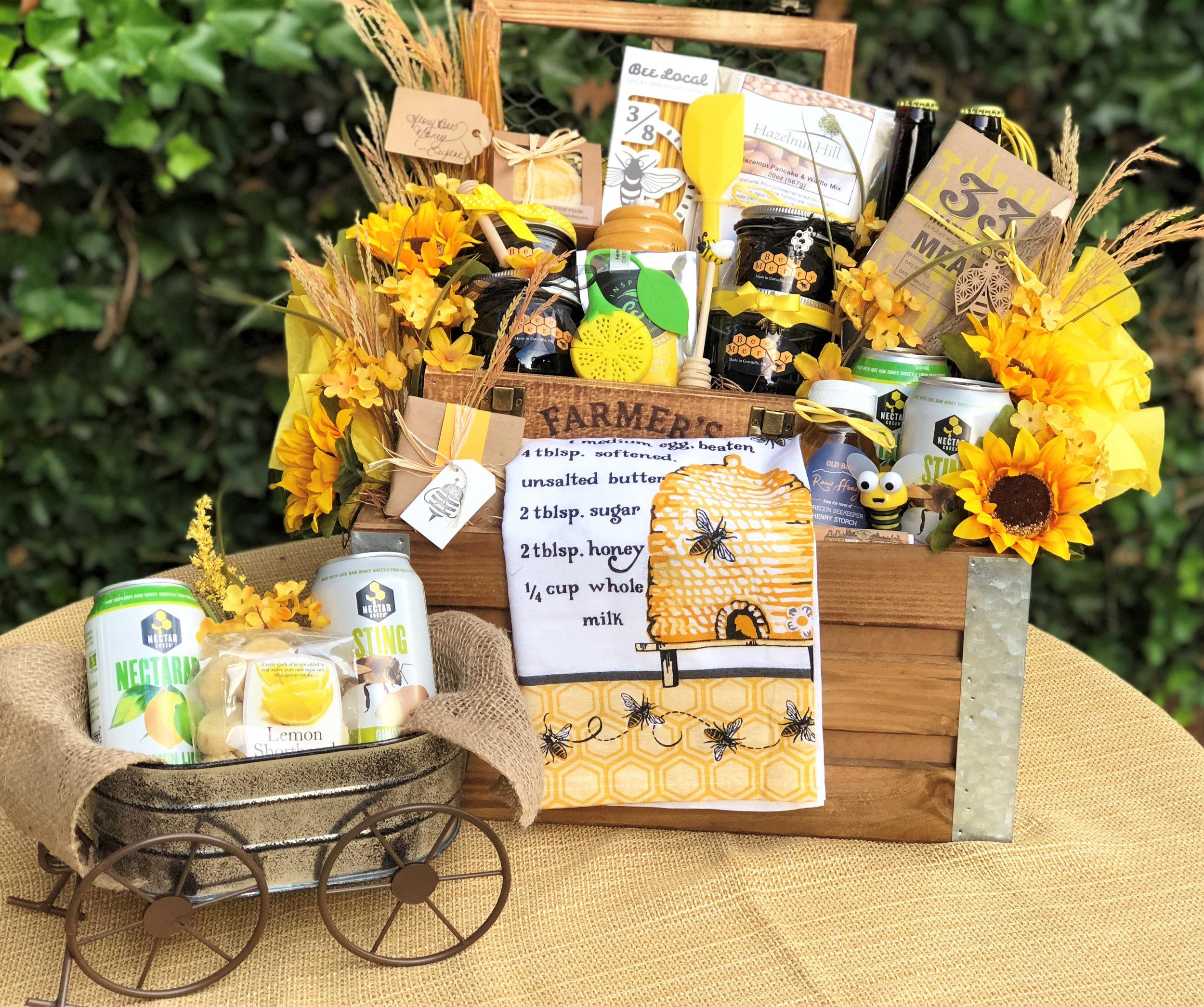 Bee-you-tiful Honeybee Gift Basket