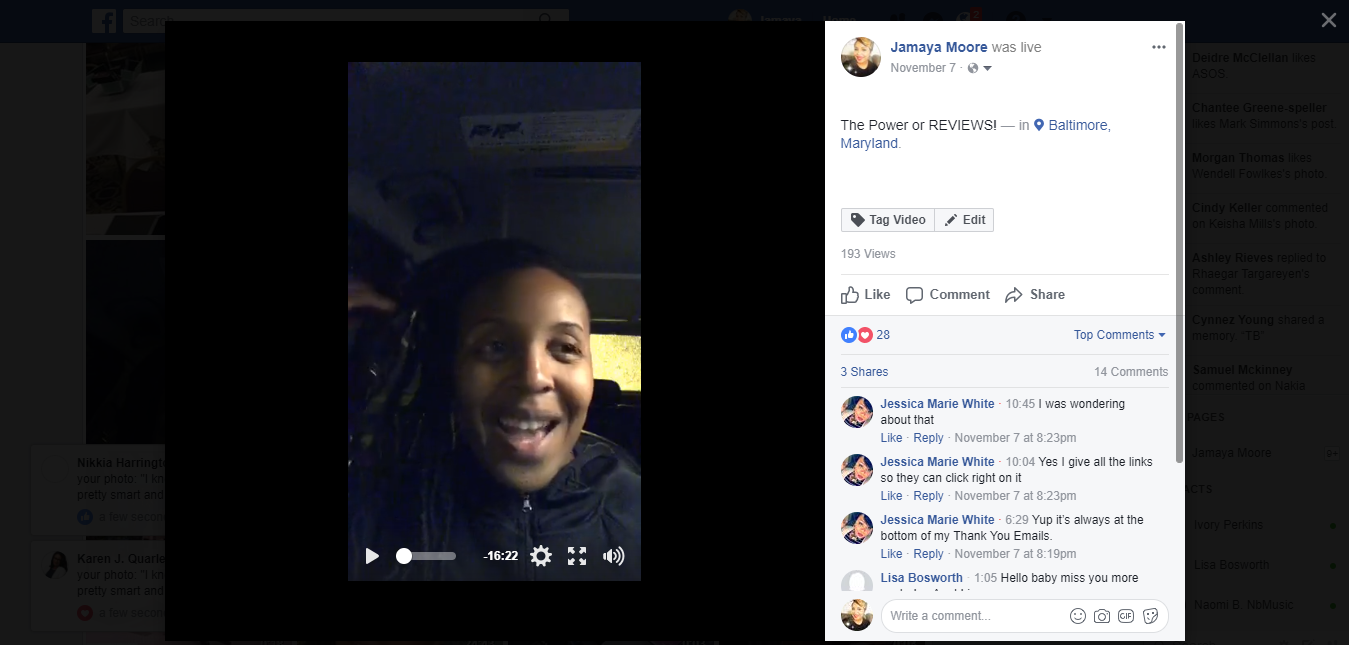Facebook Live Why You Need More Client Reviews Jamaya Moore