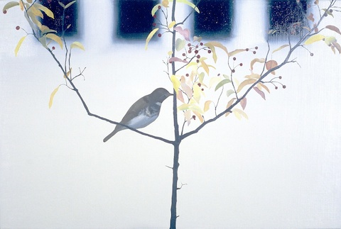 'Thrush', oil on linen over panel, part of 'Subject/Index' conceived and curated by Cindy Loehr at The Pond, Chicago c. 2004