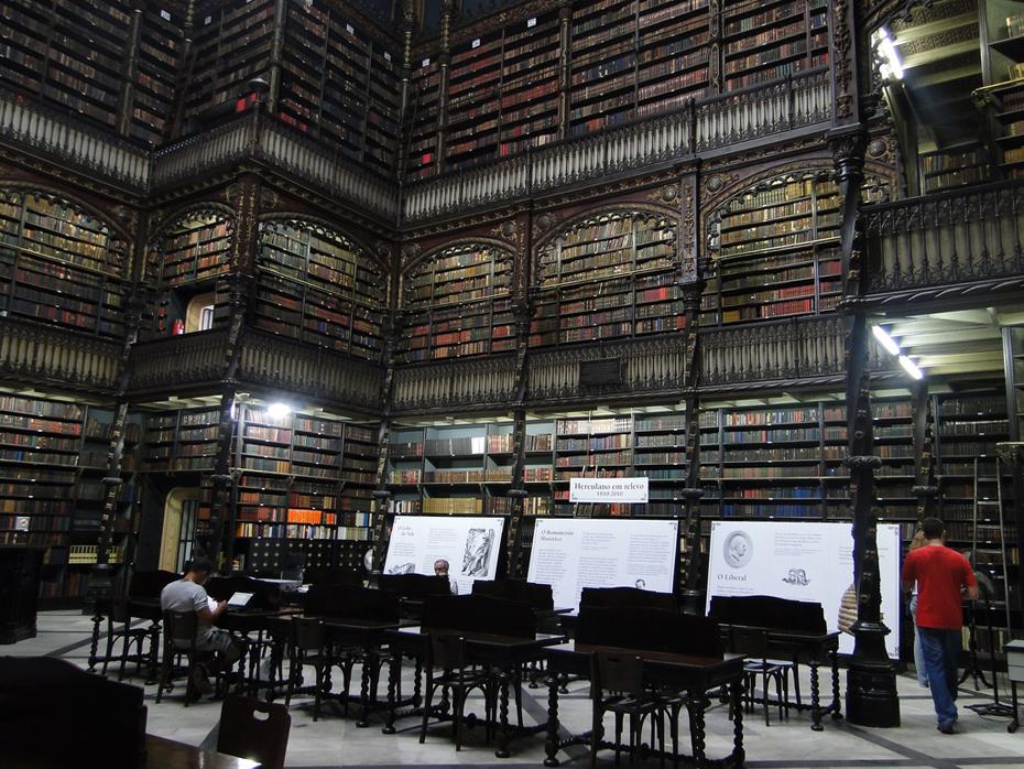 Real Gabinete Portugues de Leitura.Rio De Janeiro.Photo: Os Rúpias