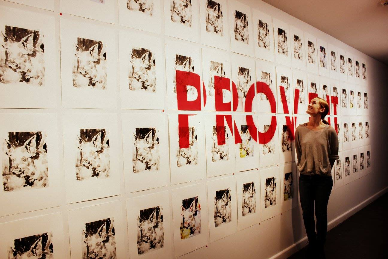 Prove it,  2016, screenprints on paper, 650cm x 190cm (photo:  Reeni Rubio-Martinez