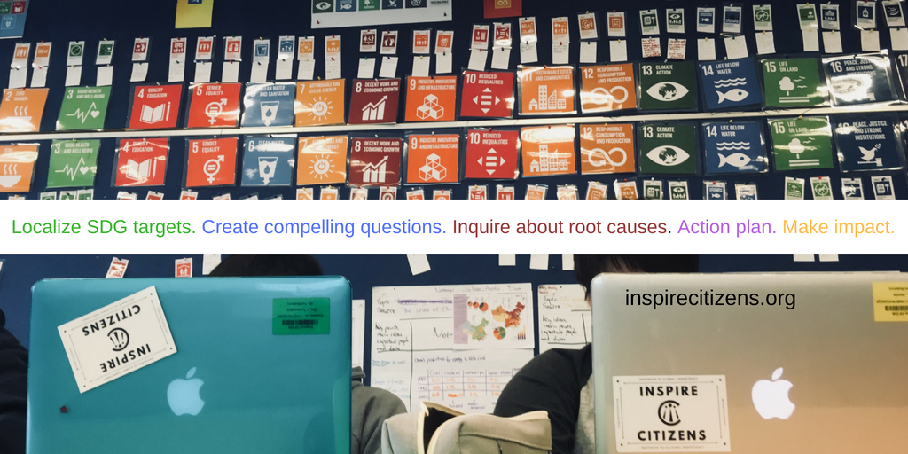 Localize SDG targets. Teach root cause inquiry. Create compelling questions. Action plan. Make impact..png