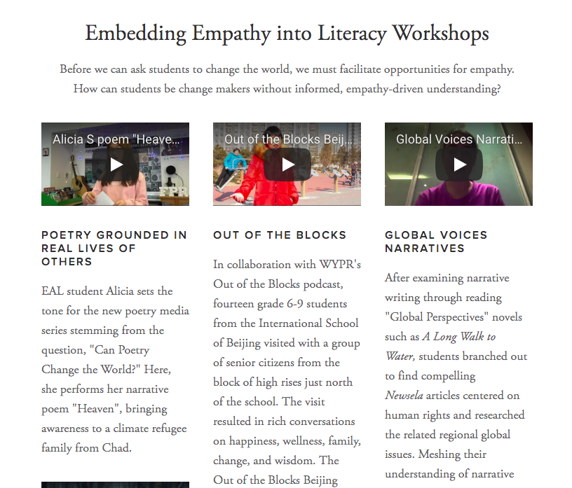 Integrating Global Competence into Humanities Classrooms  http://inspirecitizens.org/teach-empathy/