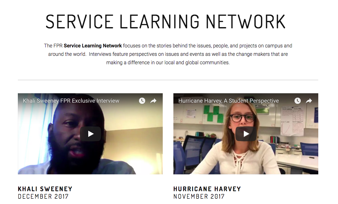 Student Community Radio Reaching Out to Global Change Makers  https://www.futurespublicradio.org/fprservicelearning/