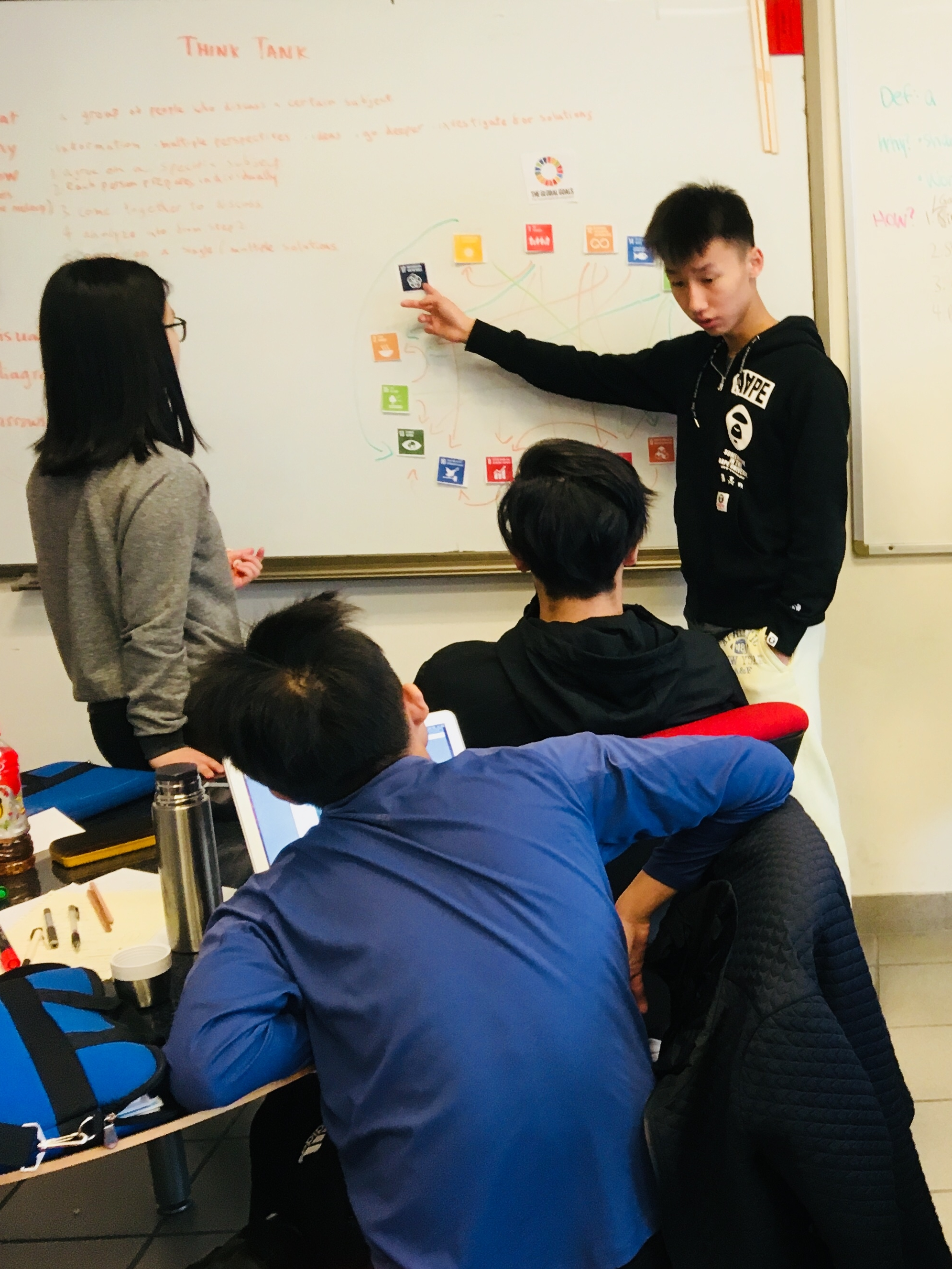 Si Ming F  Si Ming is a student specialist in leading workshops for peers on introductions to the SDGs and systems thinking in relation to the interconnectedness of goals and targets. He also has worked with the  17 Skills for 17 Goals  Program to bring leadership skills and sustainability together for younger children.