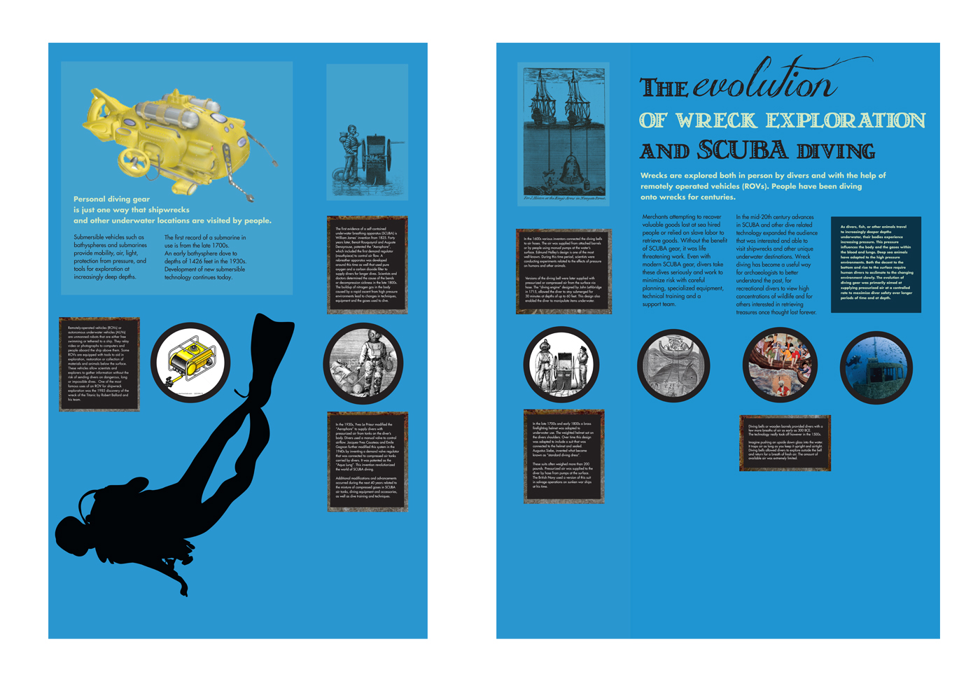 Design concept for SCUBA History Wall