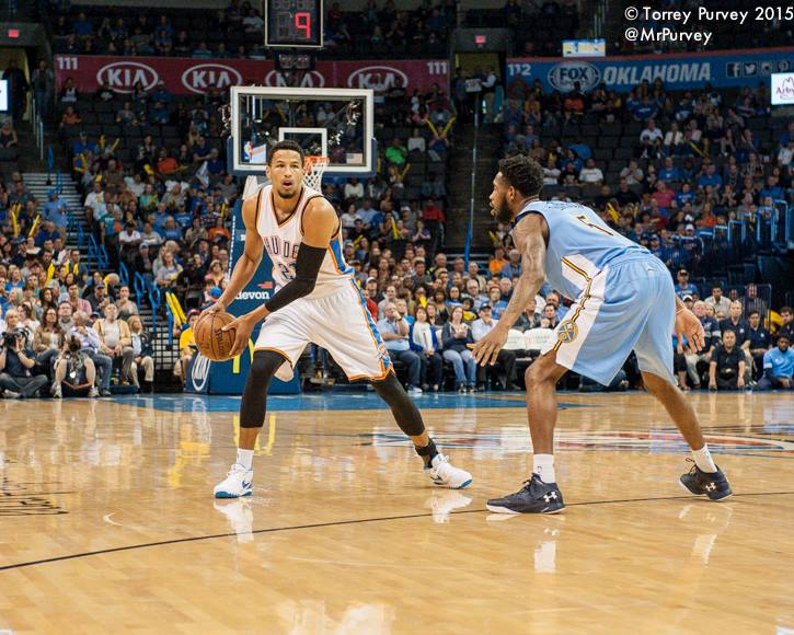 Shooting guard Andre Roberson shot by Torrey Purvey.
