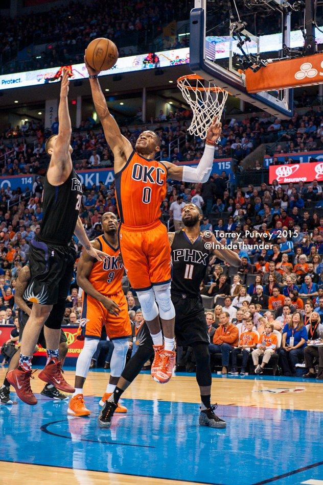 Russell Westbrook rebounding. Torrey Purvey/InsideThunder.com