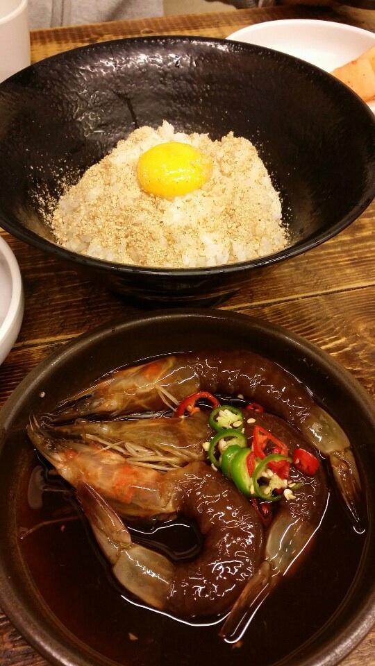 새우 간장밥 (Raw Soy-Sauce Prawn w. Rice)