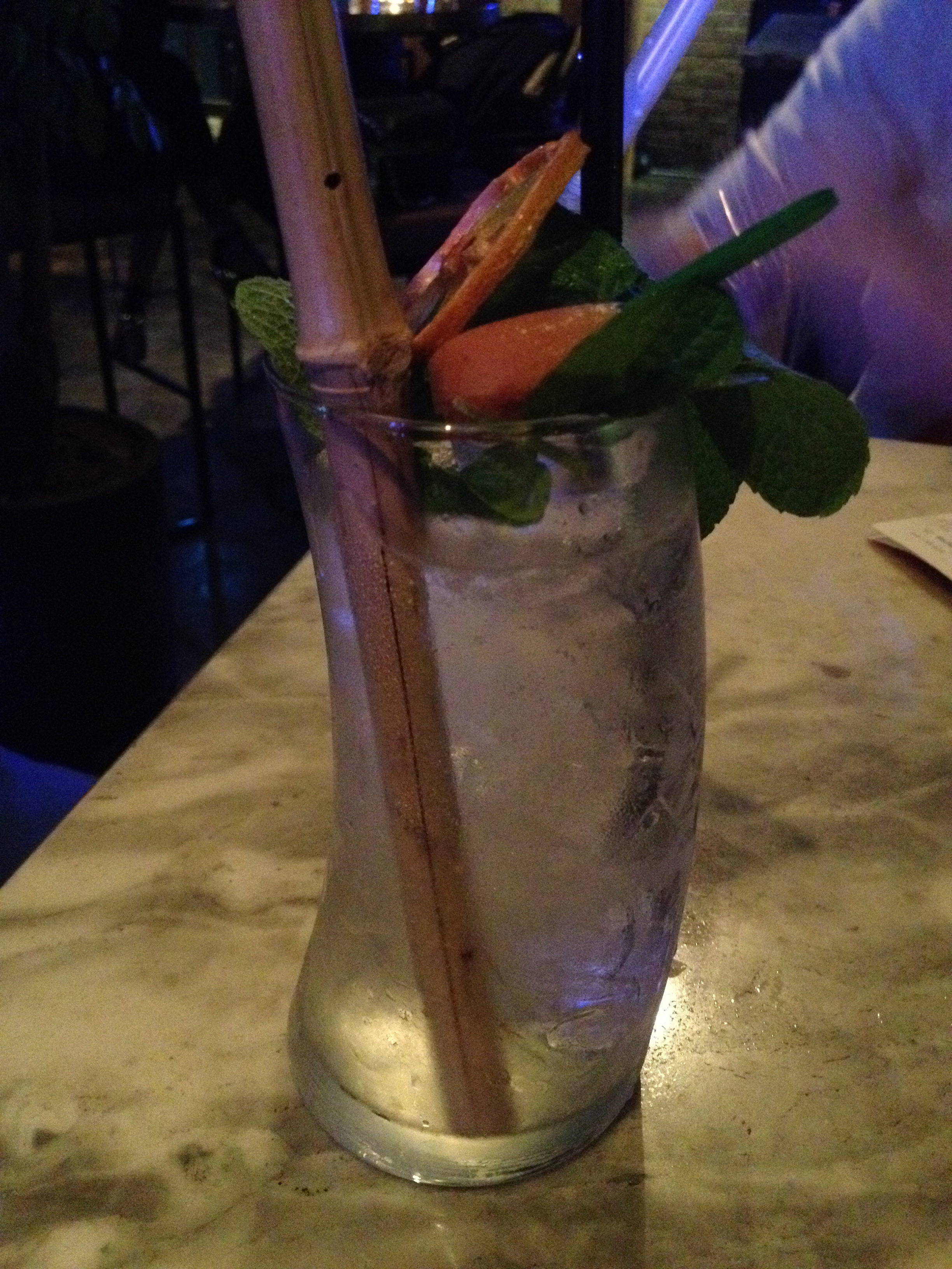 Apple Mojito - good if you like your drinks sweeter. I much prefer the original mojito!