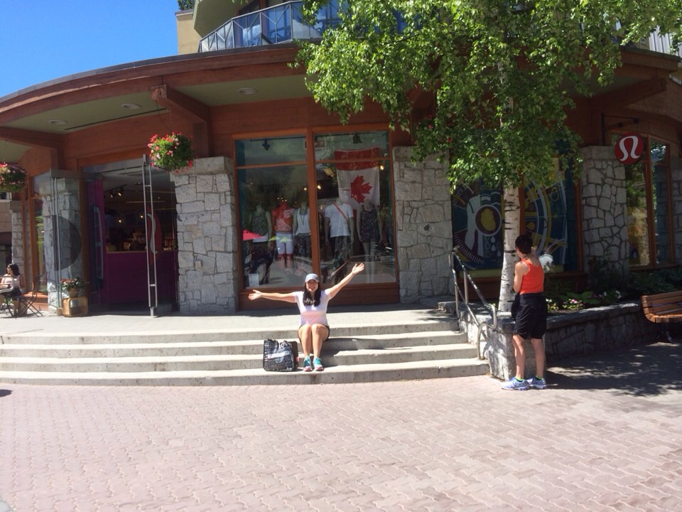 There isn't a big sign of lululemon here at the Whistler Village...but the store itself is beautiful and in a beautiful setting!
