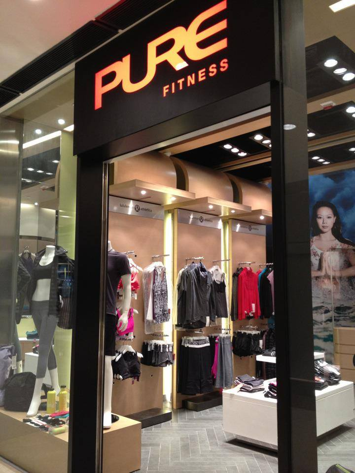 PURE gym at the IFC carrying lululemon as well as some other brands.