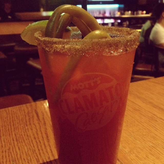 Caesar with pickled green beans!