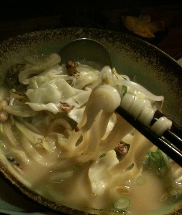 나가싸끼 짬뽕 (nag saki jjambbong - slightly spicy pork broth seafood soup with udon noodles and bean sprouts) here is SO good. If you're full, you can get it without the udon noodles that are in it.