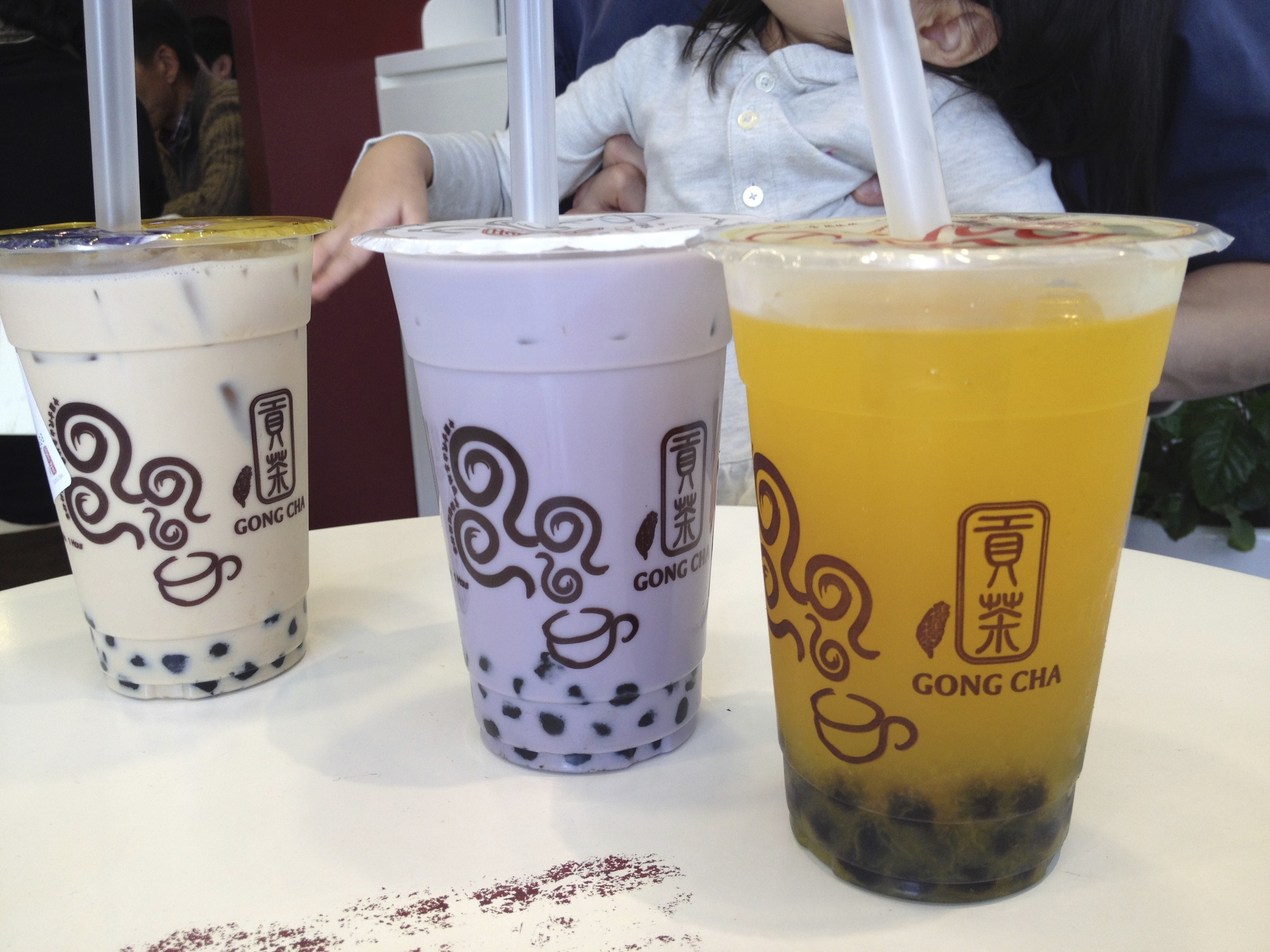 "Wintermelon, Taro, Passion fruit all with tapioca pearls. No matter how many different kinds I've tried, the Taro milk tea, 30% sugar, full ice is always my go-to. Can't go wrong with that! I've tried a ""real taro"" bubble tea before, and it was gross. It actually tasted like a ground up vegetable root (which it is haha), but it was not the flavour I was expecting at all after drinking the fake purple power Taro version. I usually like things in their original natural state, but this Taro drink is one I'll have to stick with the fake purple powder! Love it!"
