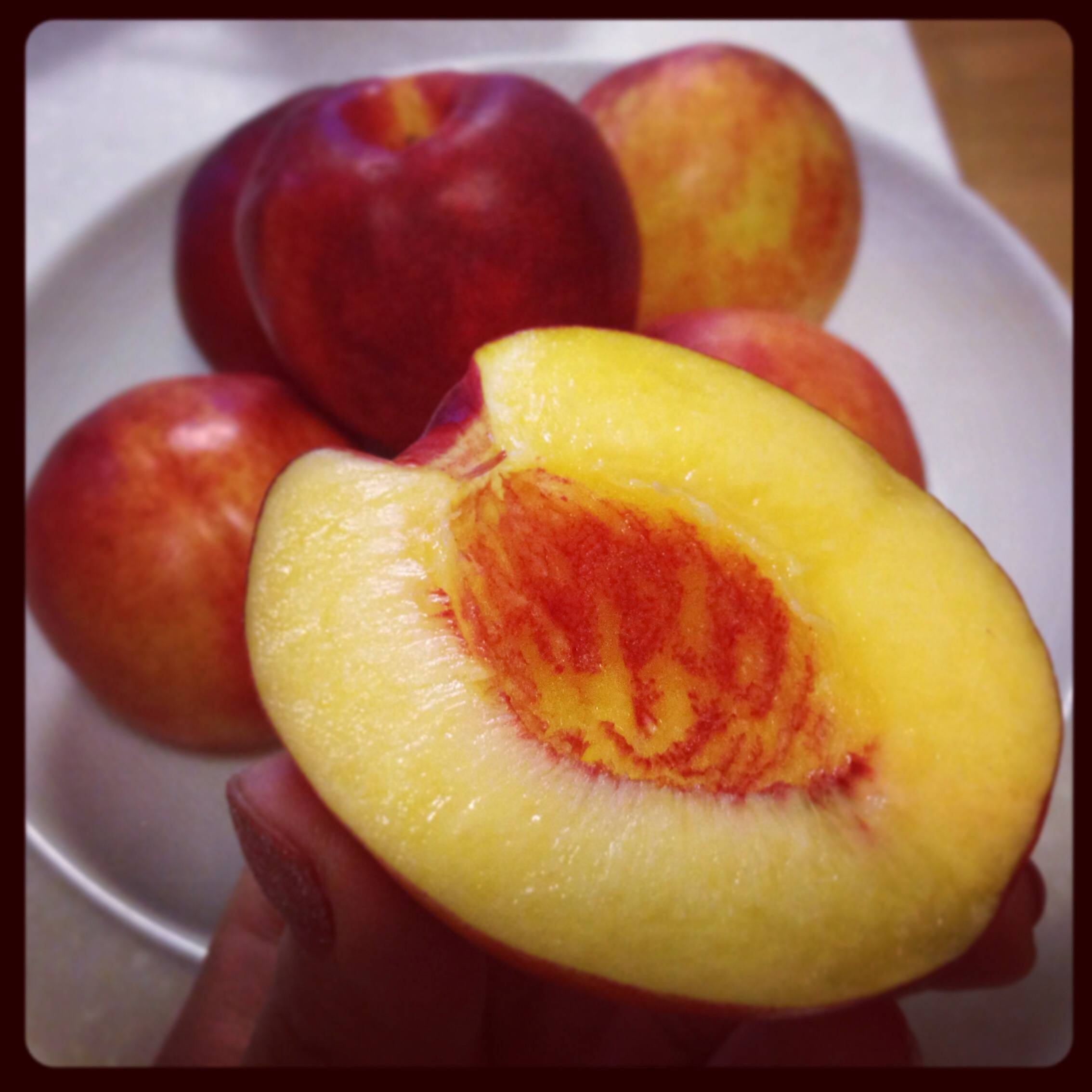 These were also from my downstairs C&U convenient store and only cost 3800won for 6! I need to leave some to soften up and ripen, but the ones that were ripe were juicy, sweet and delicious - not as juicy as the peach, but still good.