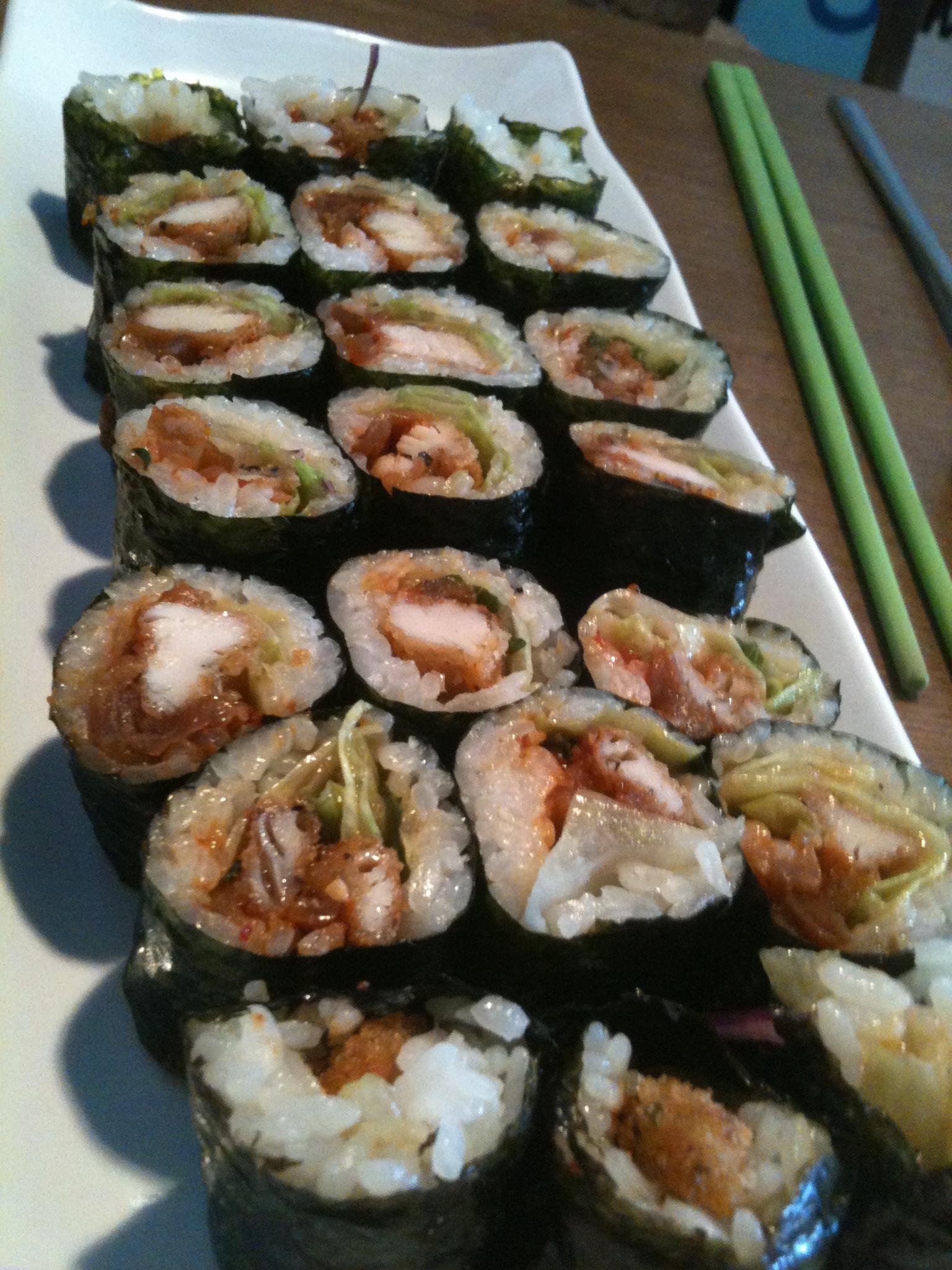 Katsu Roll - Deep fried pork roll.