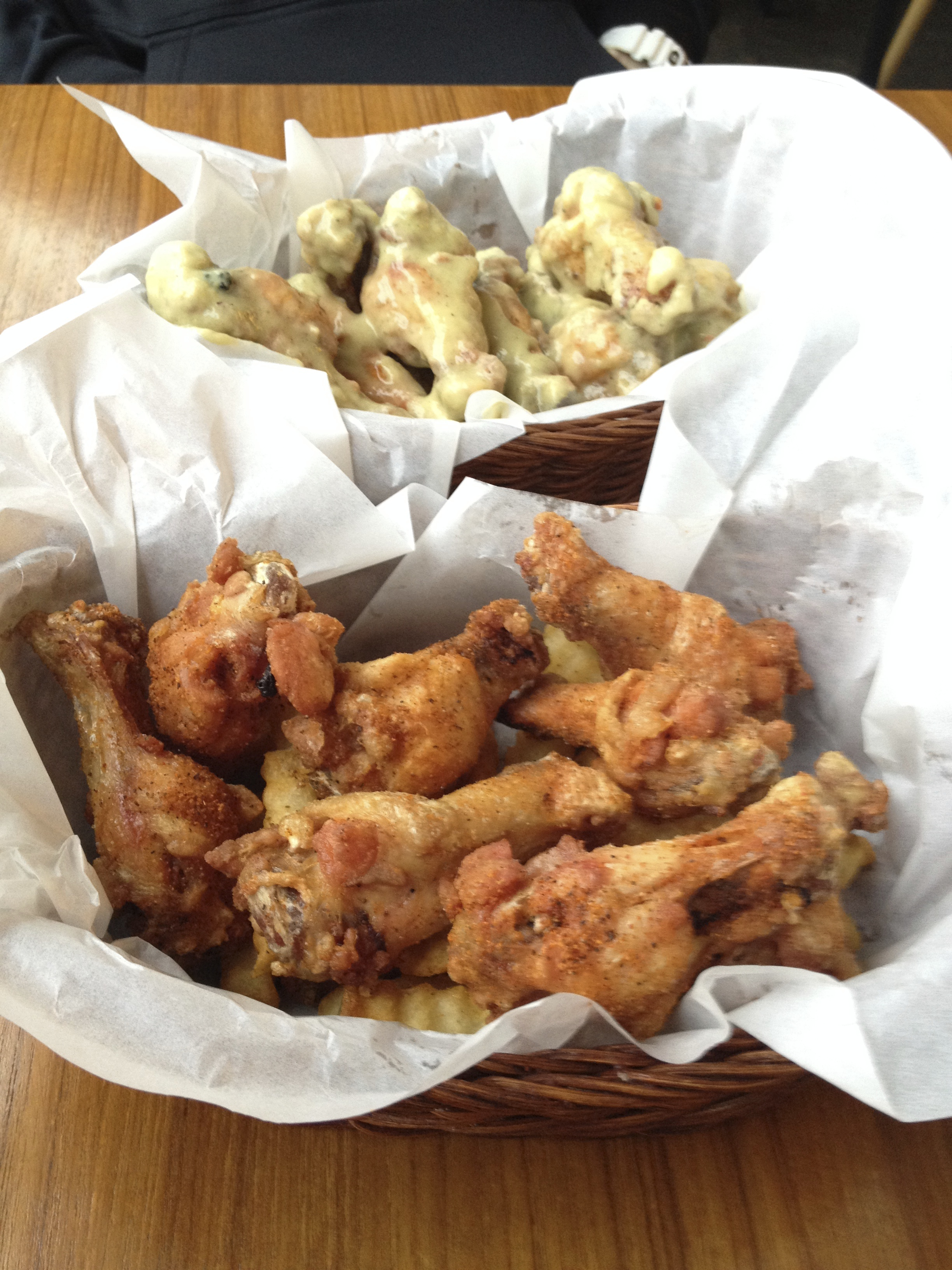 """Chili King - Crazy Cajun Dry Wings. """"Crisp wings with a healthy sprinkling of cayenne pepper and Cajun seasoning""""."""