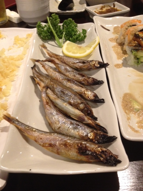 Fried Smelt appy - these ones were chock full of eggs!